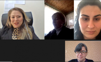 Online consulting meeting for Ozurgeti organization