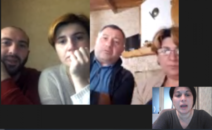 Online meetings with organizations of the Vani and Bagdati municipalities